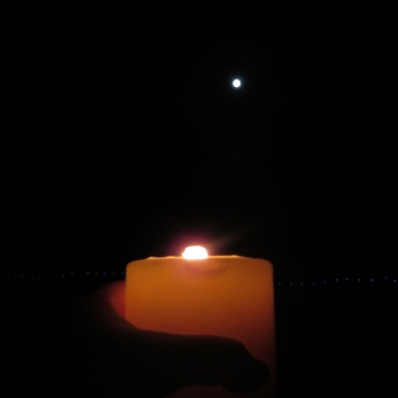 Moon and Candle Full Moon Sept 2018